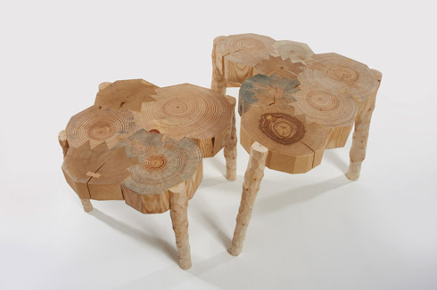Christmas Tree Tables, Fabien Cappello, 2011. Image: Gallery Libby Sellars