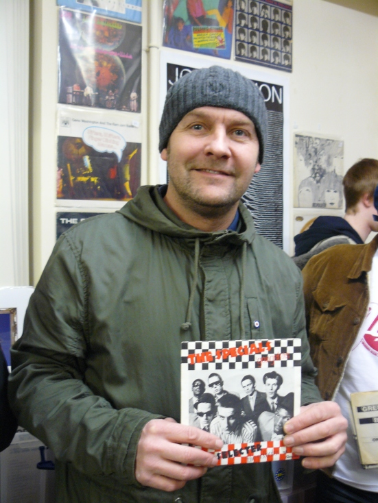 Ian Horton brought with him a copy of The Specials' Gansters issued in France.