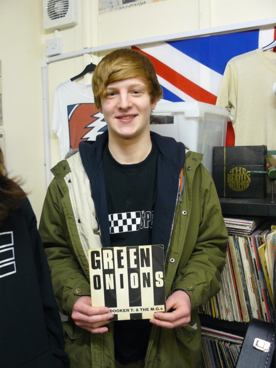 Sam Horton picked put his copy of Green Onions by Booker T & The MG's to play.