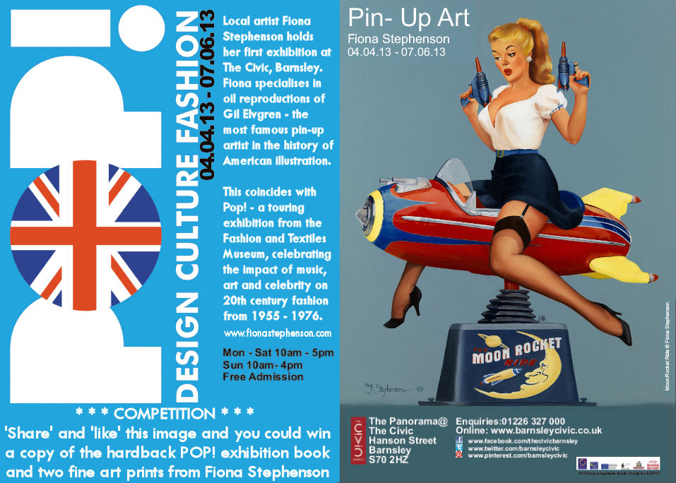 Competition Win The Pop Exhibition Book And Fiona Stephenson Art Alternative Barnsley