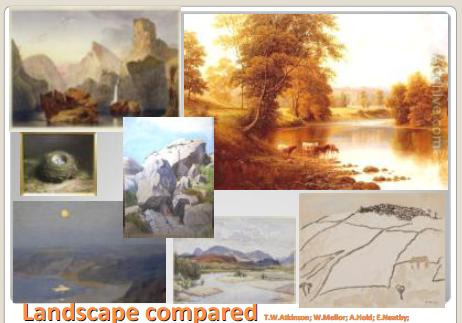 Examples of landscape painting