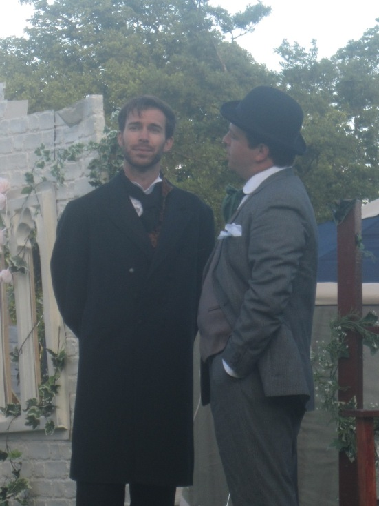 Benjamin Lawlor and Jackson Pentland as Holmes and Watson.
