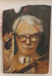 Self portrait of Kenneth Leslie Graham, courtesy of Graham McClusky, the artist' grandson.