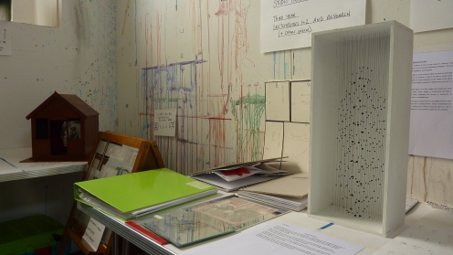 Ideas and inspirations in Linda's studio.  Photo by Jason White.