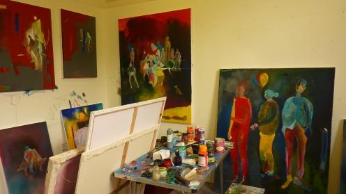 Emma Wroe's art studio. Photo by Jason White.