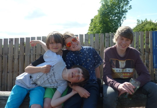 The Fluffy Gremlins. Seated left to right: George (10), Will (9), Jake (10), Joe (14).
