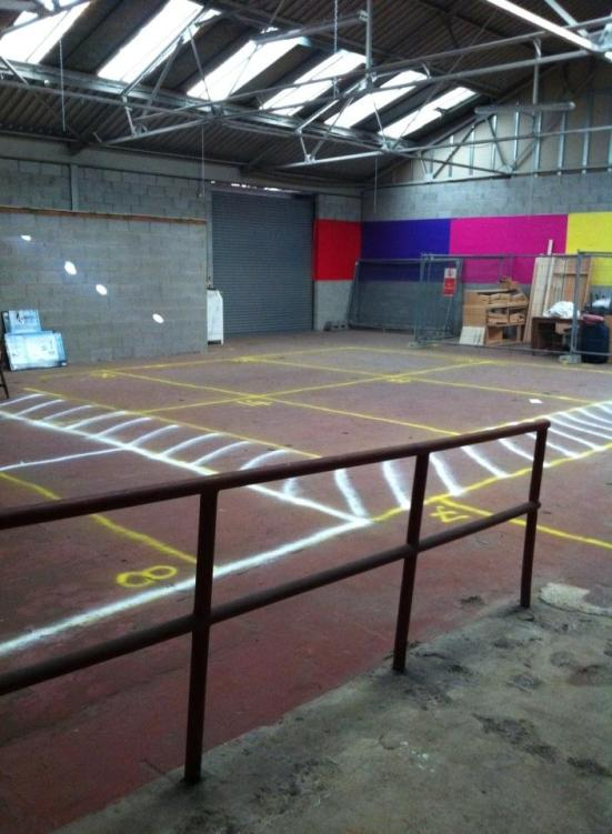 """All the studios marked out, numbered and ready for occupation."" Sam Dexter of 70/5 Studios"