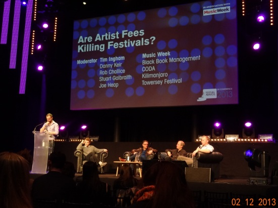 Some of the guest speakers and big names from the world of music festivals at the UK Music Awards conference.