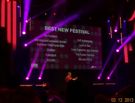 """Its our category. Phil Jupitus reads out the name of the category nominees and when it gets to us there is a mighty shout of 'YOOOOO REDS' to which Mr Jupitus responds, """"ooh 'ello, Barnsley lads are in!"""""""
