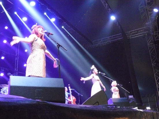 The Puppini Sisters on the Planets Stage