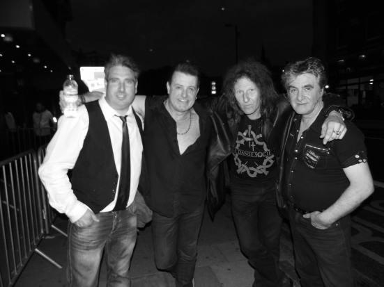 Danse Society Reincarnated at The Garage, Islington London. Left to right; Elliott, Paul, Bri, Mal.