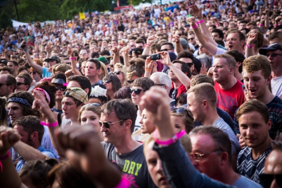 Public Enemy's audience at Devonshire Green © Roseanna Hanson