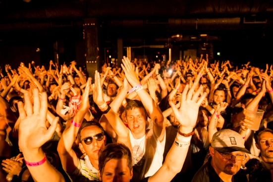 The crowd at The Corporation © Roseanna Hanson
