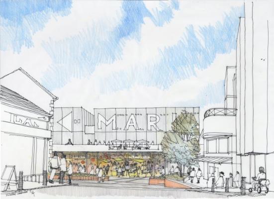 Artist impression of new refurbished market.