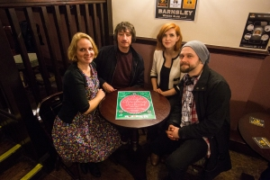 The Arcade Christmas Festival organisers, left to right; Steph Cronin, Chris Scarfe, Rebecca Howell and Jason White