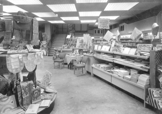 Barnsley coop linen dept from a huge photograph album of the store in 1950s