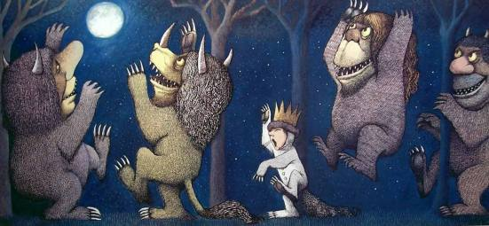 Artwork from Where the Wild Things Are by Maurice Sendak