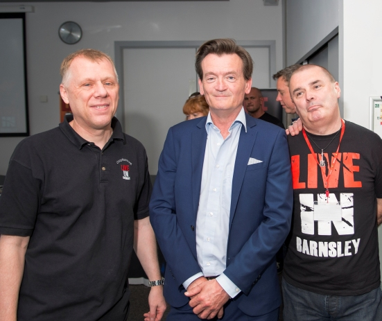 left to right; Steve Clifford, Feargal Sharkey and Dave Pearsal.