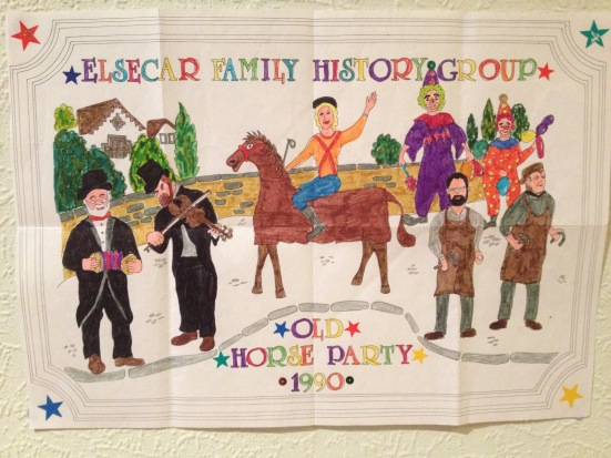 An Old Horse Party kids colouring-in poster, 1990.
