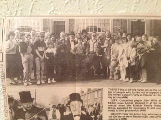 Promo photograph outside The Ship 1990 - Barnsley Chronicle 6th April 1990.