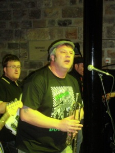 Barmy Surplus at their last gig.