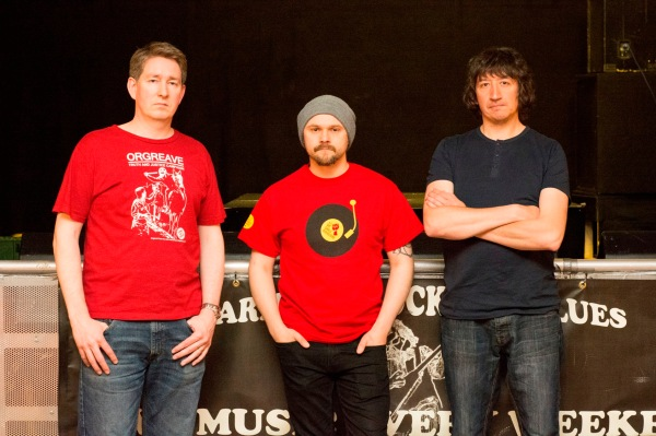 We Shall Overcome organisers left to right; Chris Sammon, Jason White, Chris Scarfe © Ian Parker