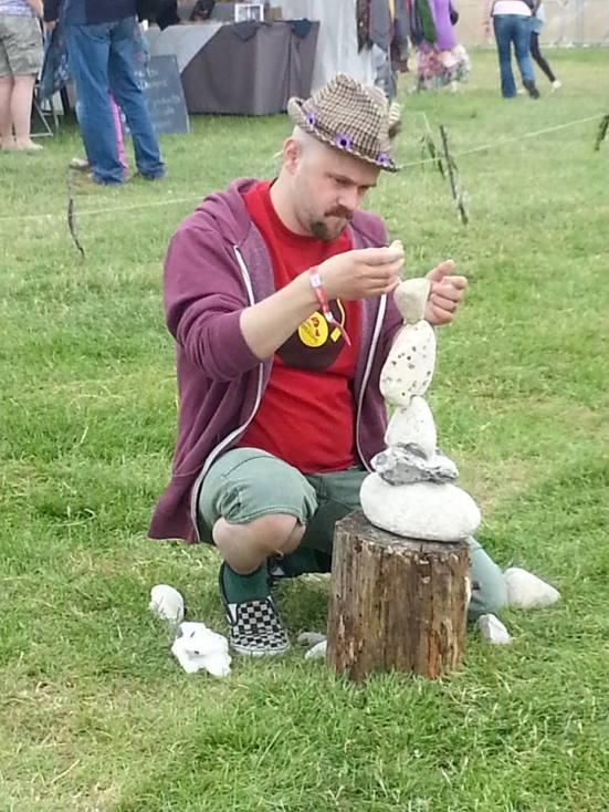Me, stone balancing.
