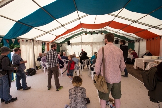 The Workshop Tent © Lewis Ryan
